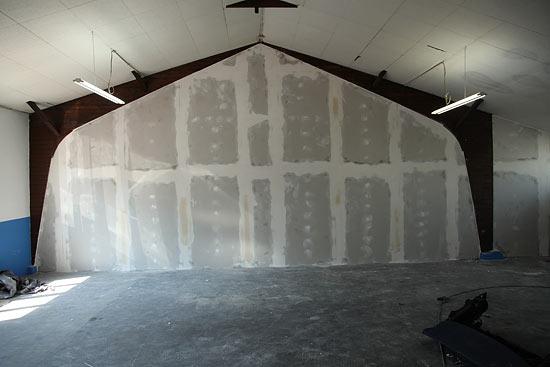 Trockenbauwand aus Gipskartonwand als Raumaufteilung
